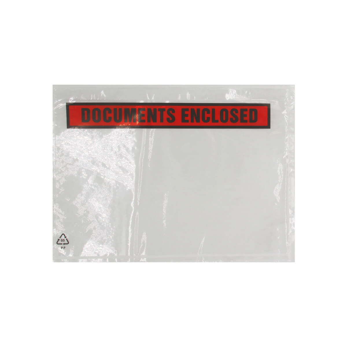 DL CLEAR DOCUMENTS ENCLOSED WALLETS PRINTED (110 x 220mm)