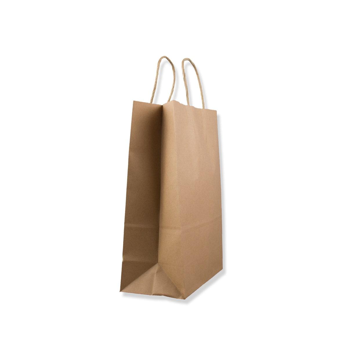 190x80x210mm MANILLA TWIST HANDLED PAPER BAG