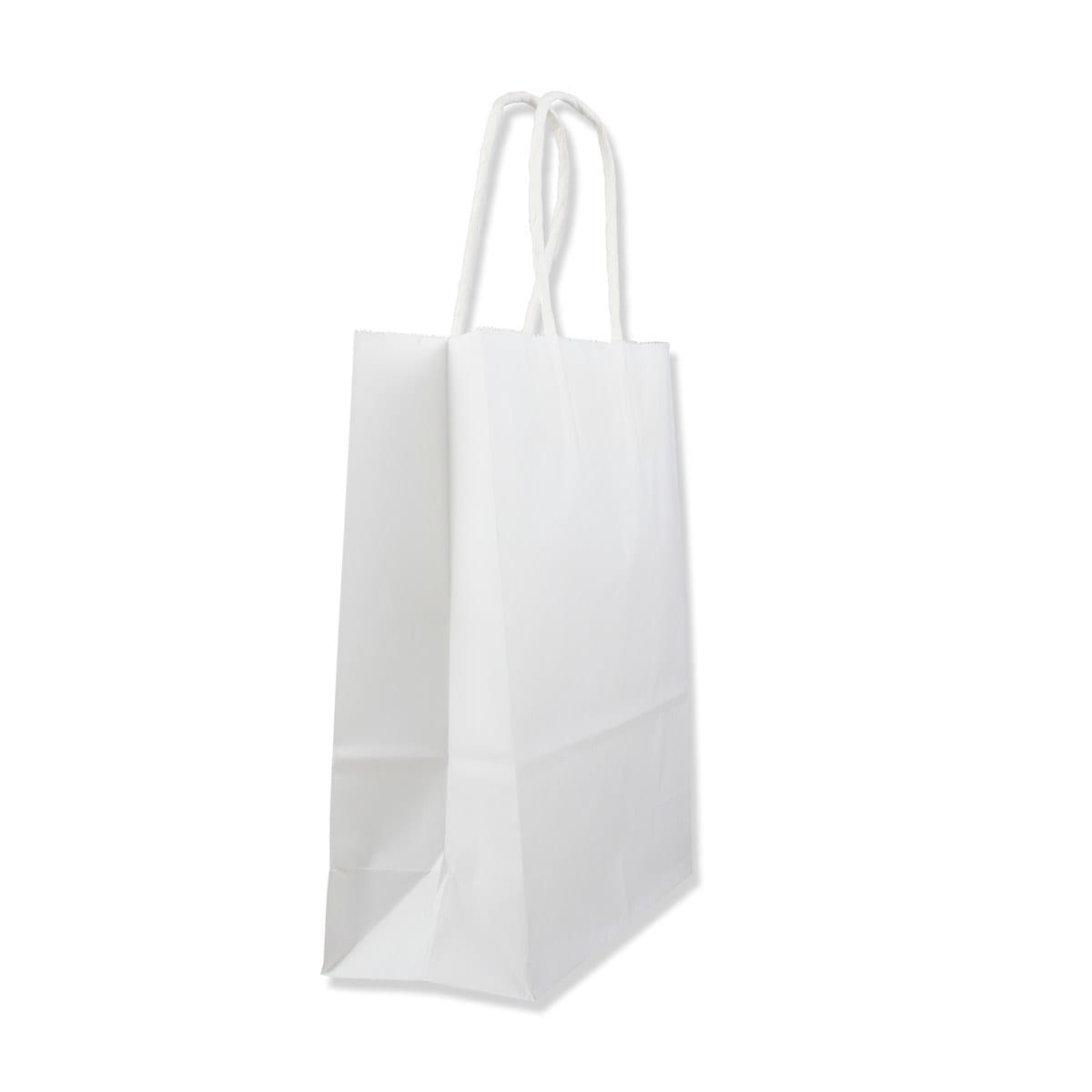 240x110x310mm WHITE TWIST HANDLED PAPER BAG