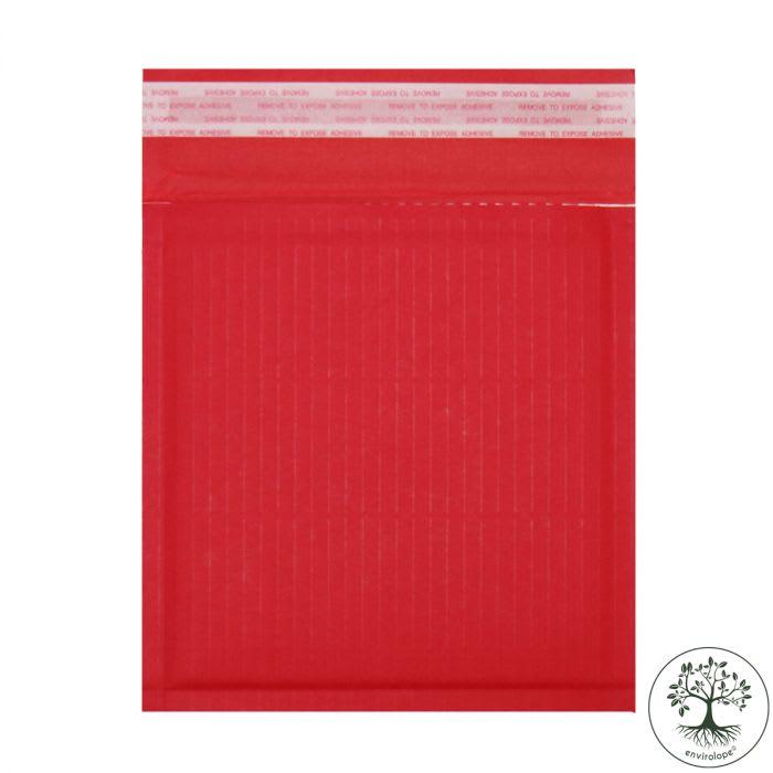 165 x 165mm RED PAPER PADDED ENVELOPES