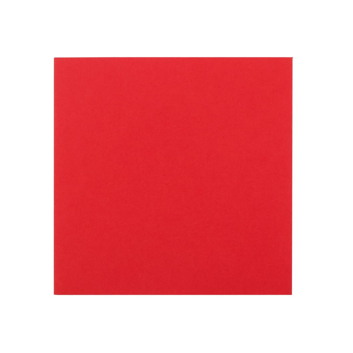 BRIGHT RED 130MM SQUARE ENVELOPES 120GSM
