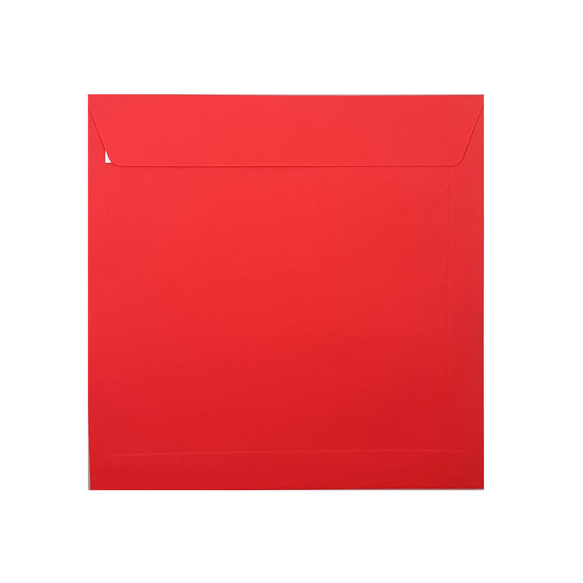 BRIGHT RED 220mm SQUARE PEEL & SEAL ENVELOPES