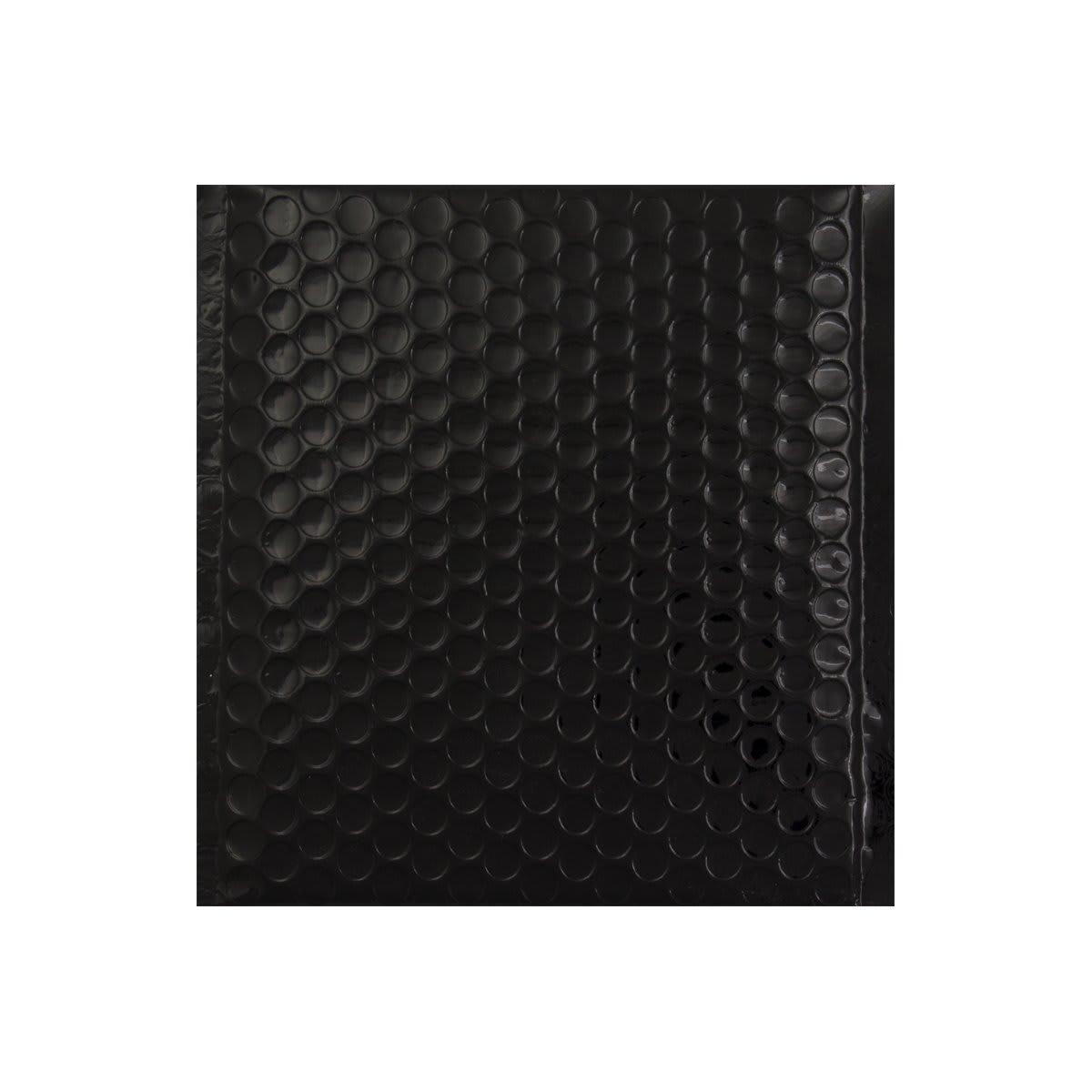165 x 140mm GLOSS METALLIC BLACK PADDED ENVELOPES