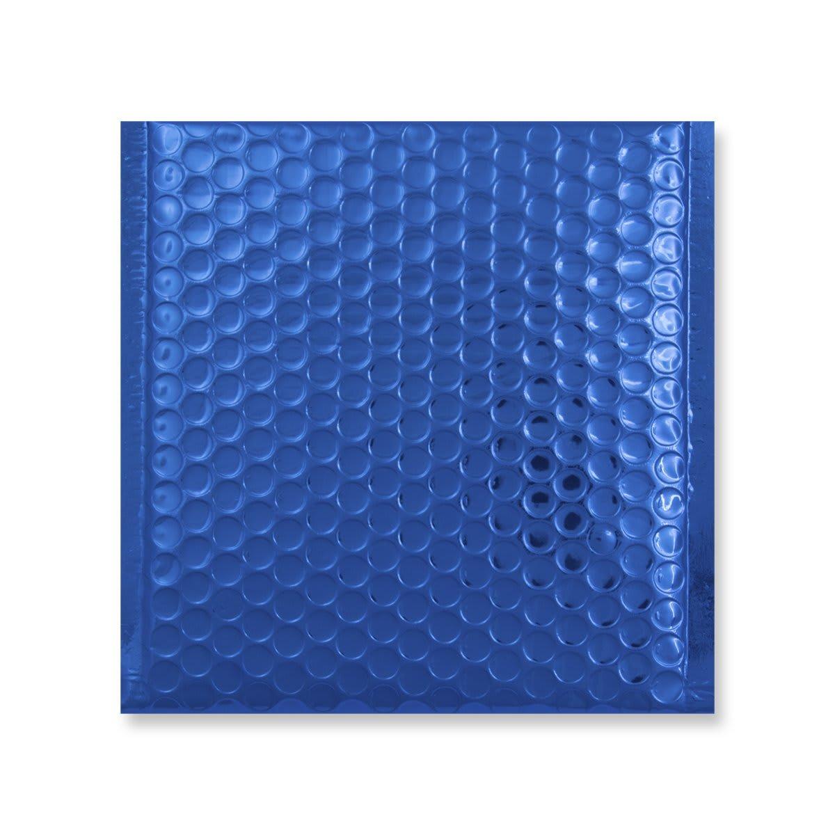 165MM SQUARE GLOSS METALLIC BLUE PADDED ENVELOPES