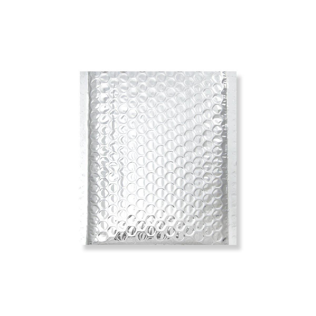 180x140mm SILVER METALLIC GLOSS BUBBLE BAGS