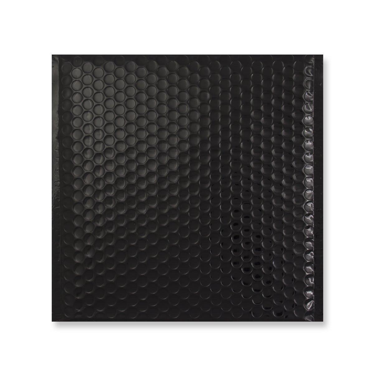 230MM SQUARE GLOSS METALLIC BLACK PADDED ENVELOPES