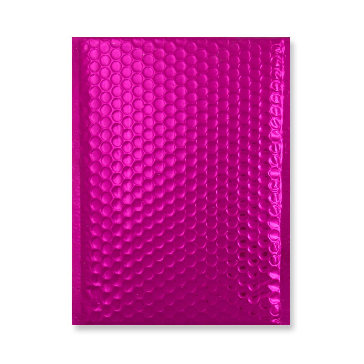 C5 + GLOSS METALLIC HOT PINK PADDED ENVELOPES (250 x 180MM)