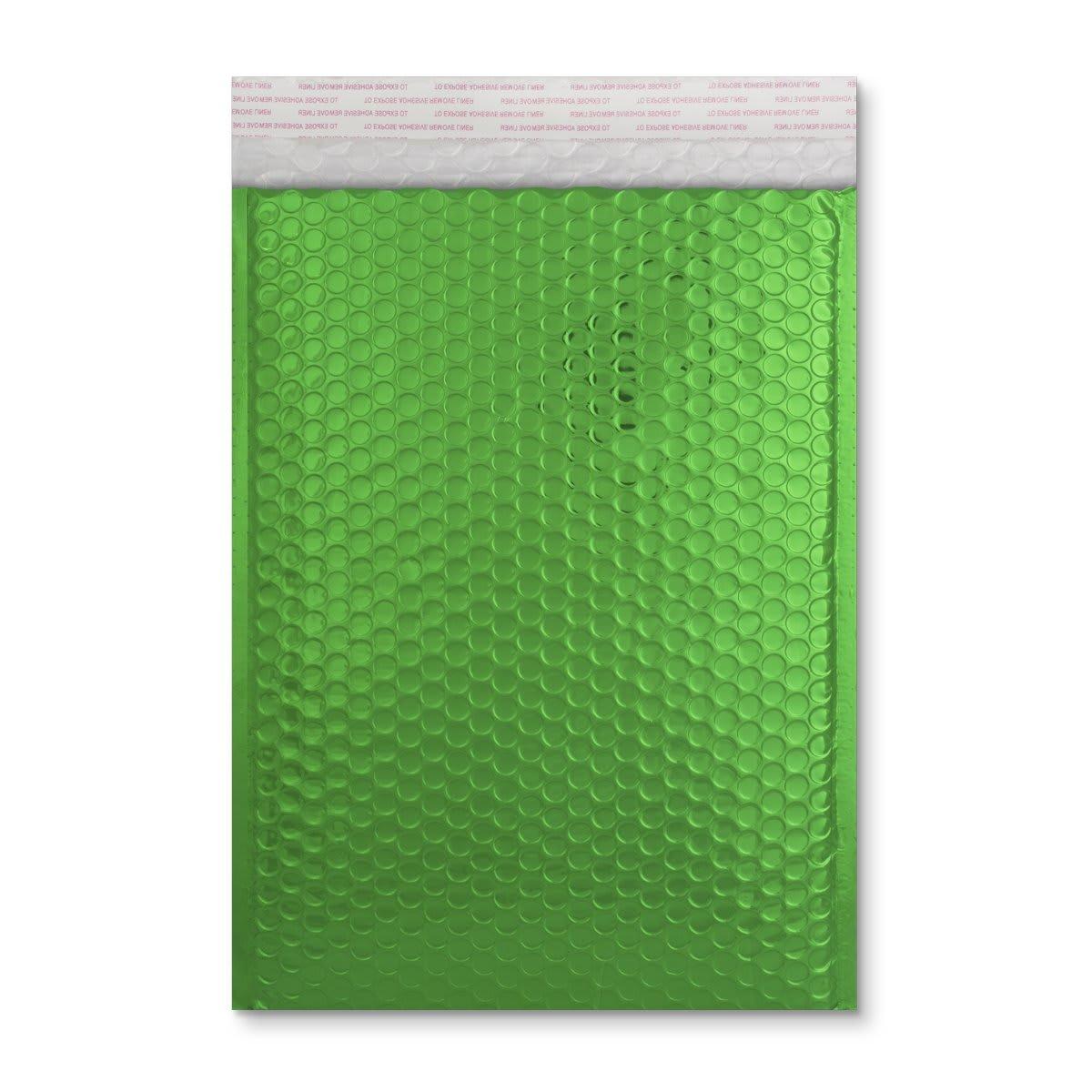 C4 GLOSS METALLIC GREEN PADDED ENVELOPES (324 x 230MM)