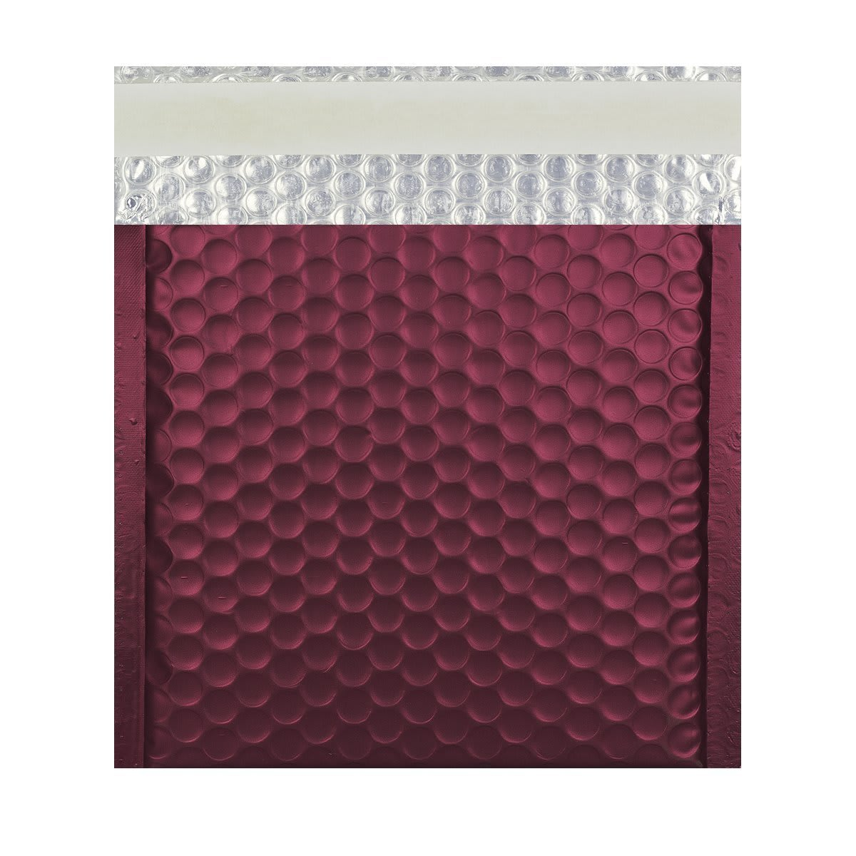 165MM SQUARE MATT METALLIC BURGUNDY PADDED ENVELOPES