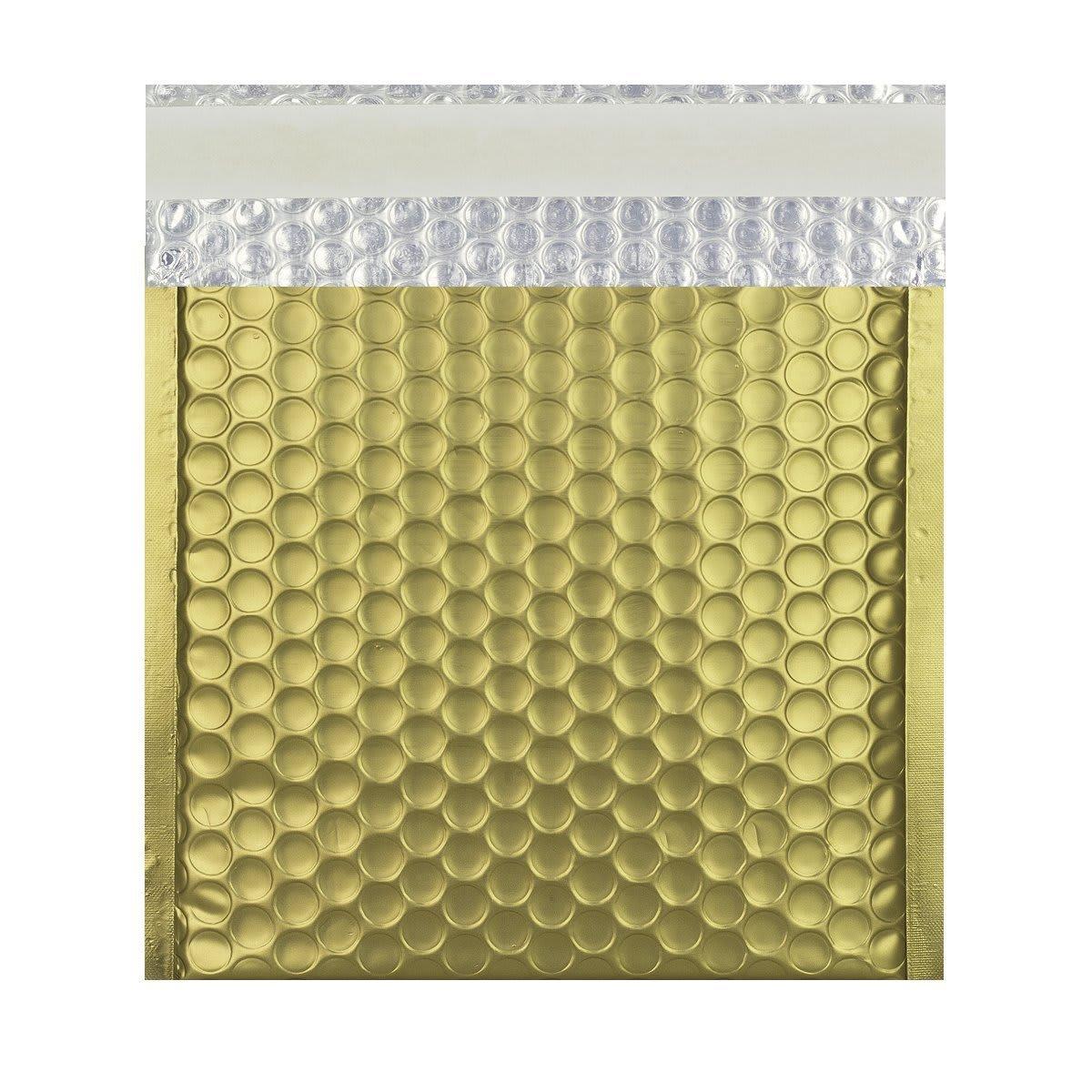 165MM SQUARE MATT METALLIC GOLD PADDED ENVELOPES