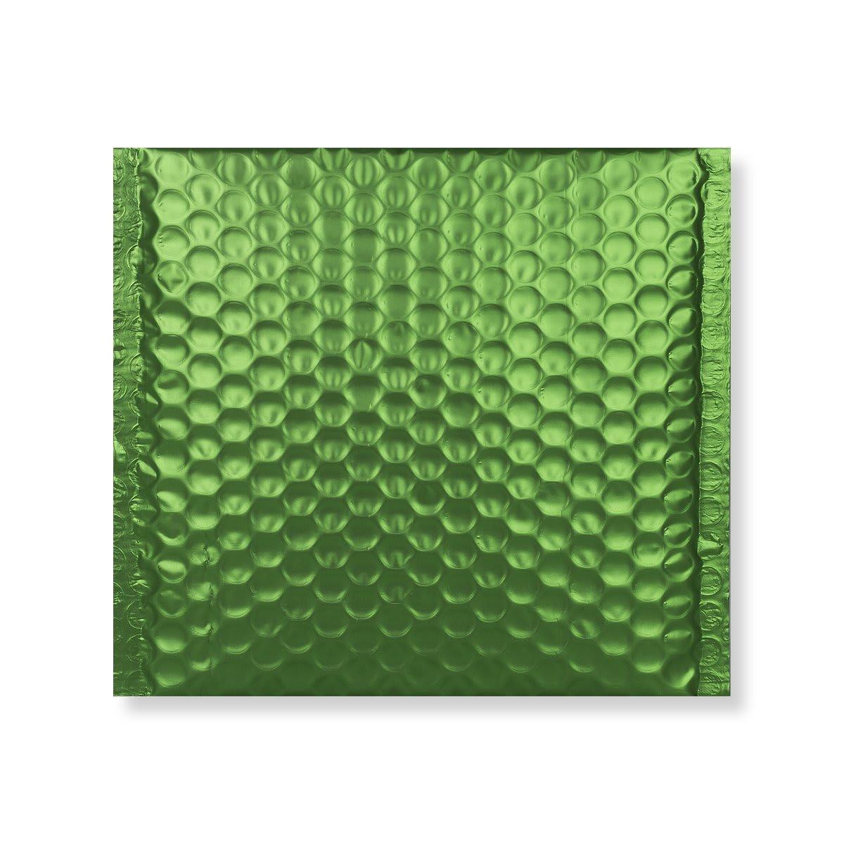 165MM SQUARE MATT METALLIC GREEN PADDED ENVELOPES
