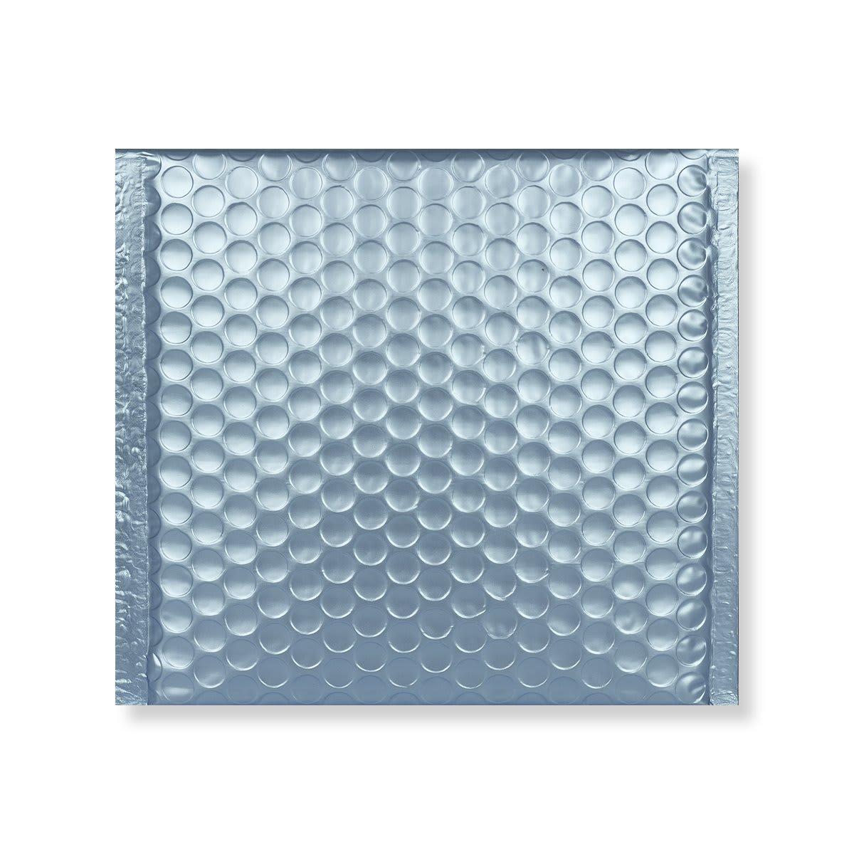 165MM SQUARE MATT METALLIC ICE BLUE PADDED ENVELOPES