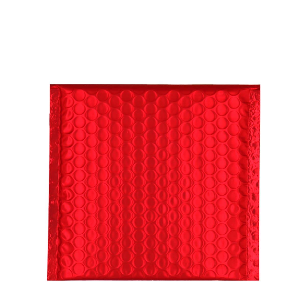 165MM SQUARE MATT METALLIC RED PADDED ENVELOPES