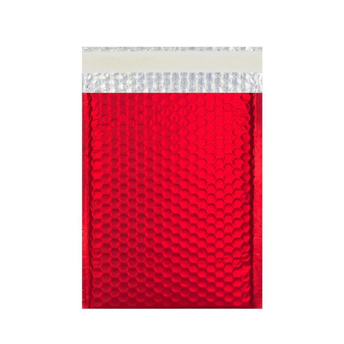 C5 + MATT METALLIC RED PADDED ENVELOPES (250 x 180MM)