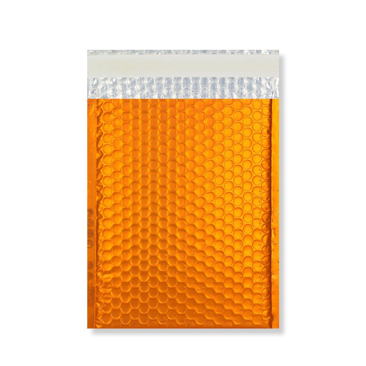 C4 MATT METALLIC ORANGE PADDED ENVELOPES (324 x 230MM)