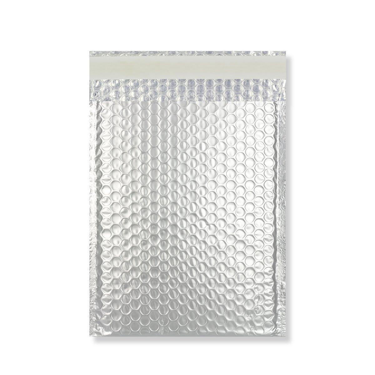 C4 MATT METALLIC SILVER PADDED ENVELOPES (324 x 230MM)