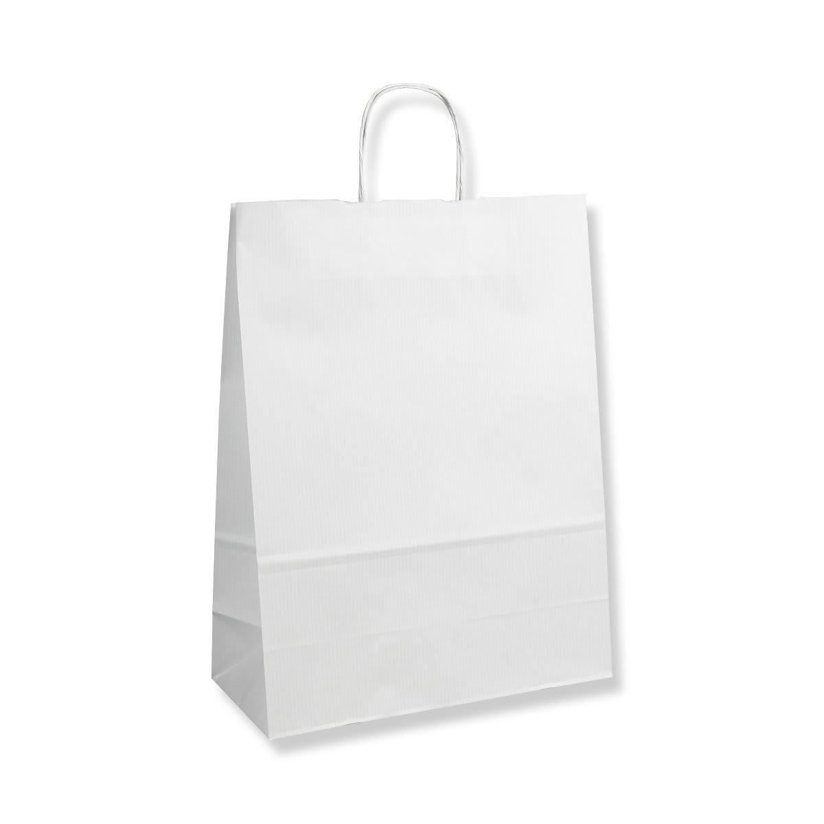 320x140x420mm WHITE TWIST HANDLED PAPER BAGS