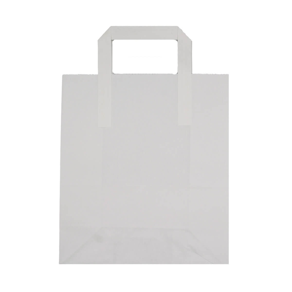 MEDIUM WHITE PAPER CARRIER BAGS (SIZE 2)