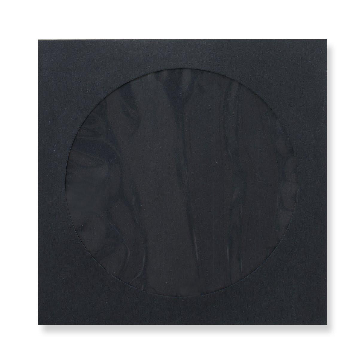 85 x 85mm BLACK MINI CD WINDOW ENVELOPES