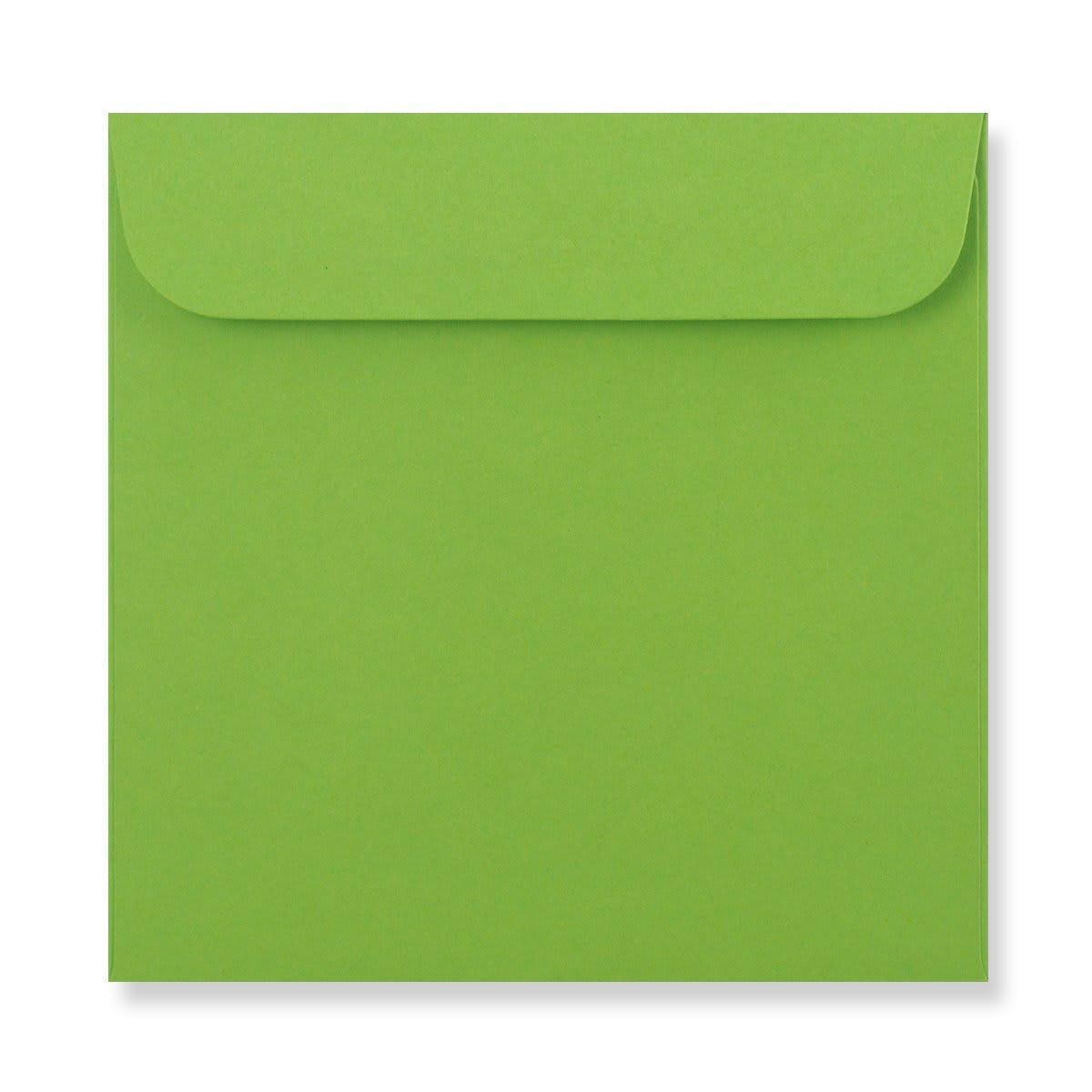 85 x 85mm GREEN MINI CD WINDOW ENVELOPES