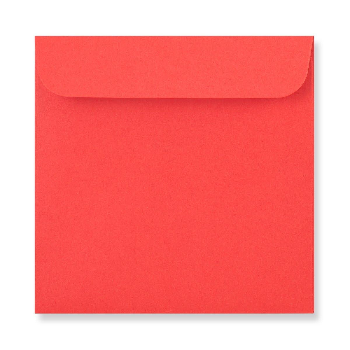 85 x 85mm RED MINI CD WINDOW ENVELOPES
