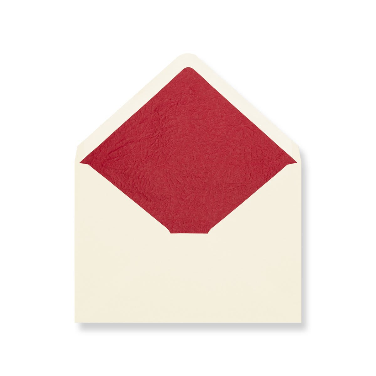 C6 Ivory Envelopes Lined With Red Paper
