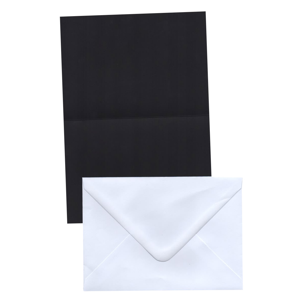 A6 BLACK CARD BLANKS & WHITE ENVELOPES (PACK OF 20)