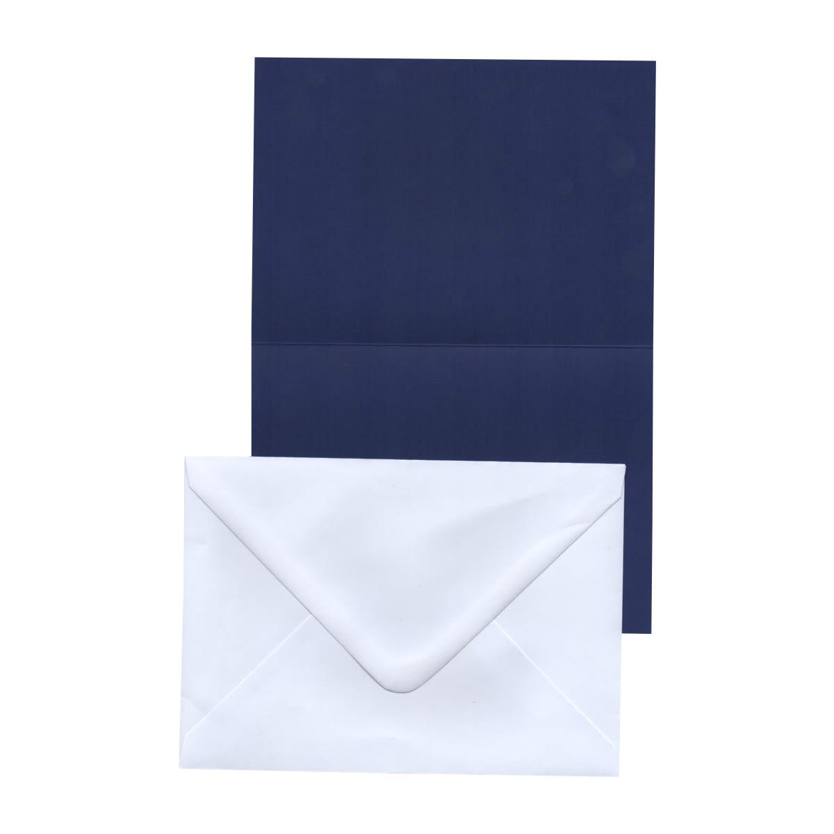 A6 COBALT BLUE CARD BLANKS & WHITE ENVELOPES (PACK OF 20)