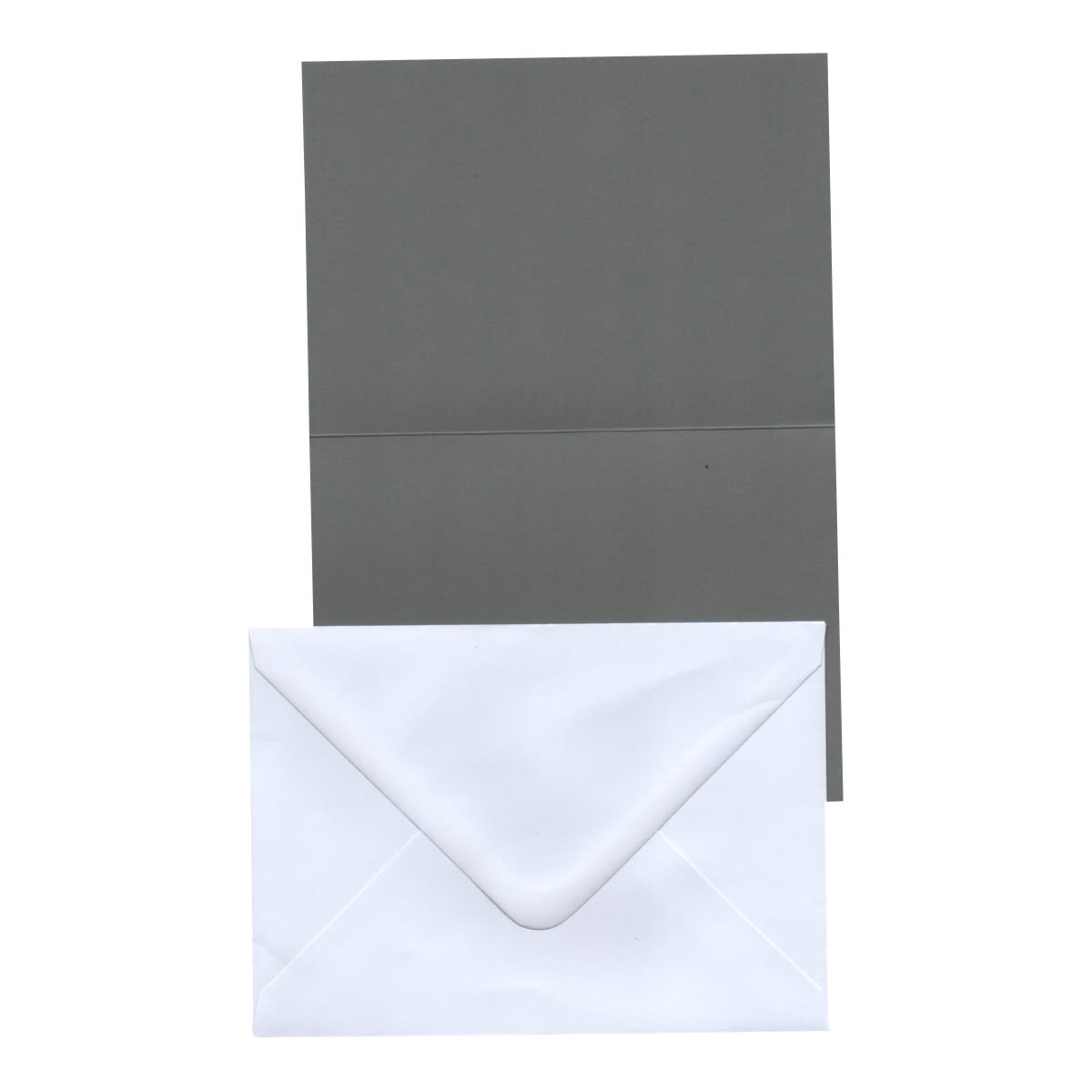 A6 DARK GREY CARD BLANKS & WHITE ENVELOPES (PACK OF 20)