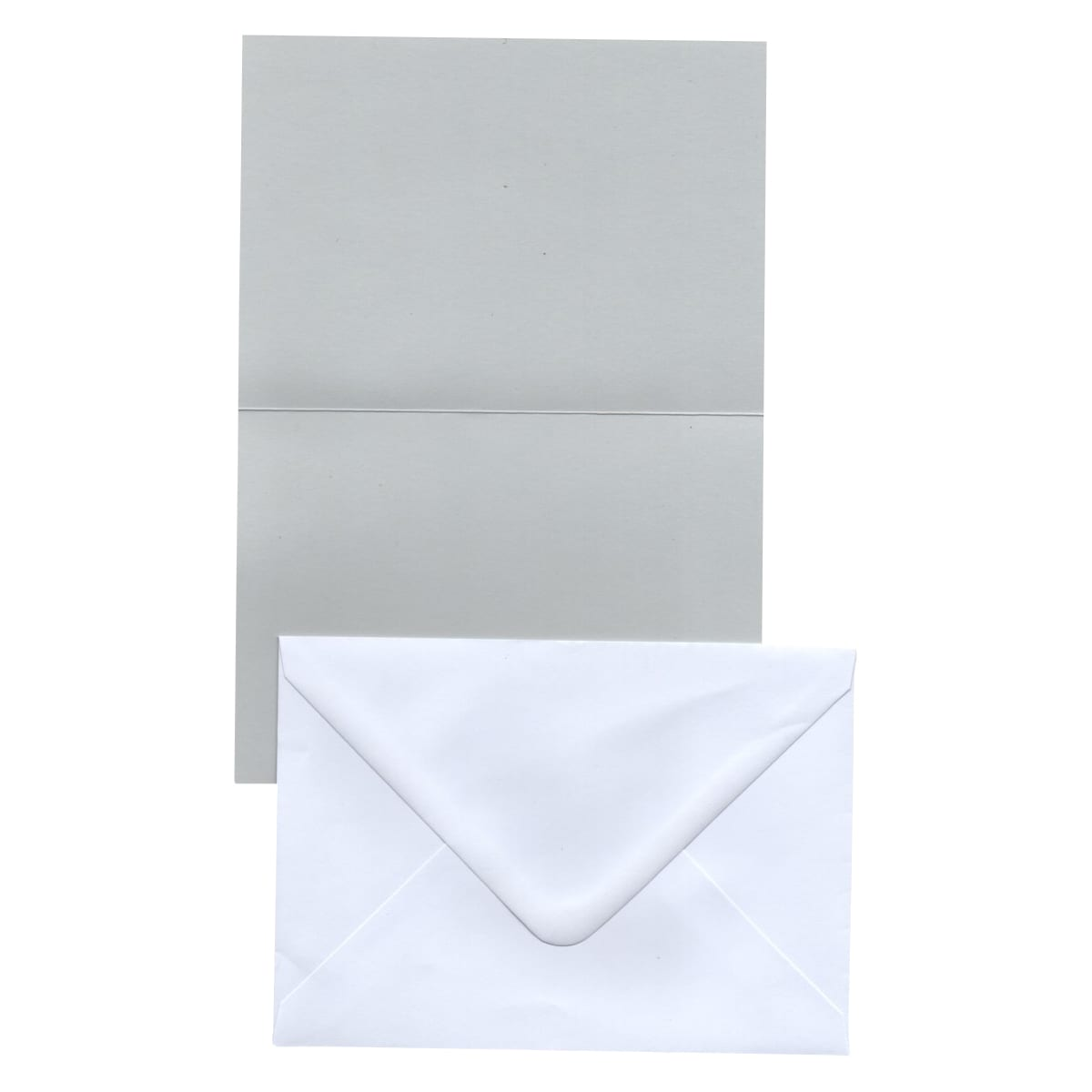 A6 PALE GREY CARD BLANKS & ENVELOPES (PACK OF 20)