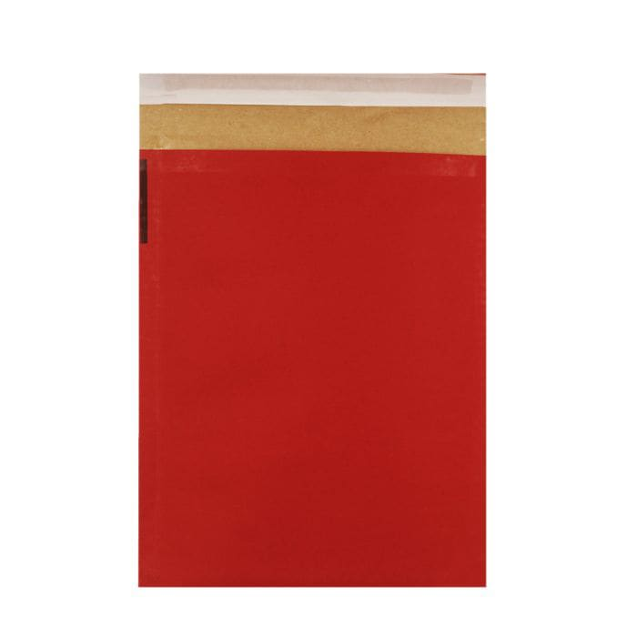 340 x 240mm RED ECO LIGHT PADDED BAGS
