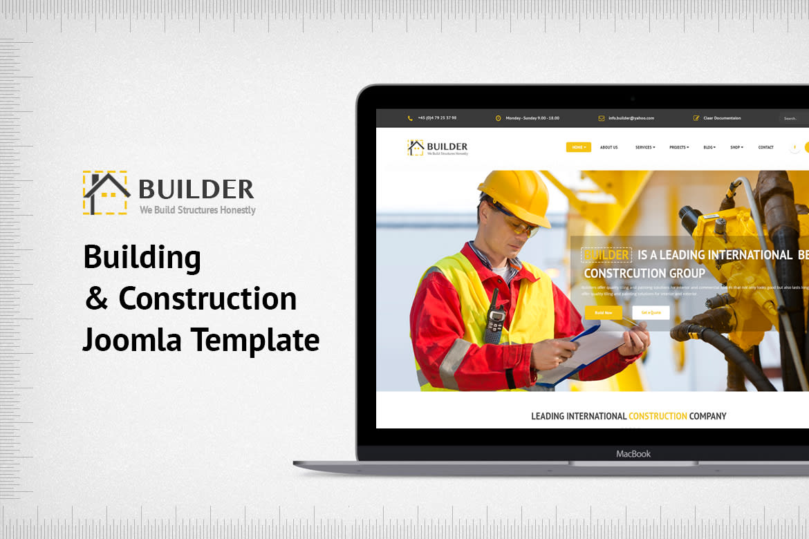 builder building construction joomla template by joomlabuff on envato elements. Black Bedroom Furniture Sets. Home Design Ideas