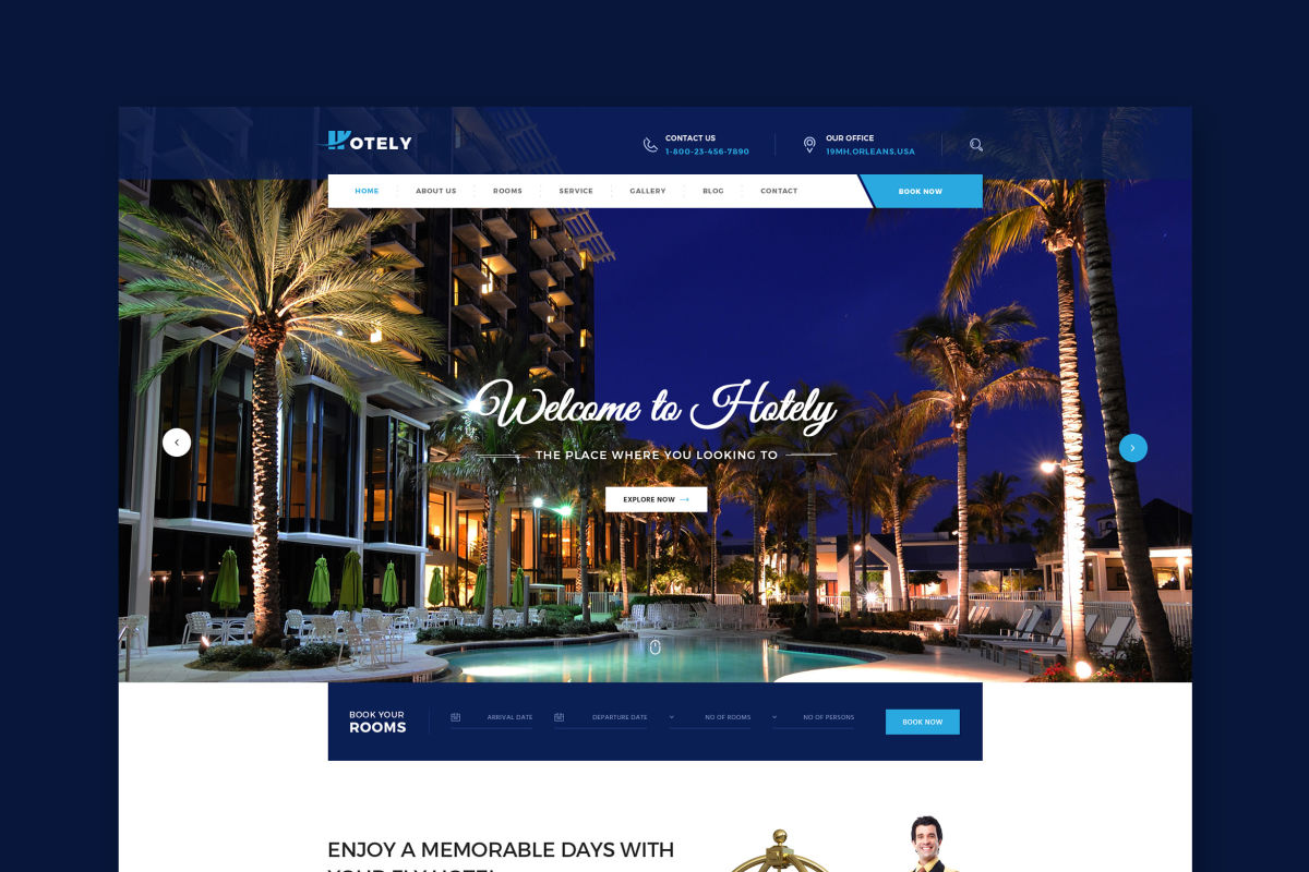 Hotely  Hotel Booking  Travel HTML Template by WPmines