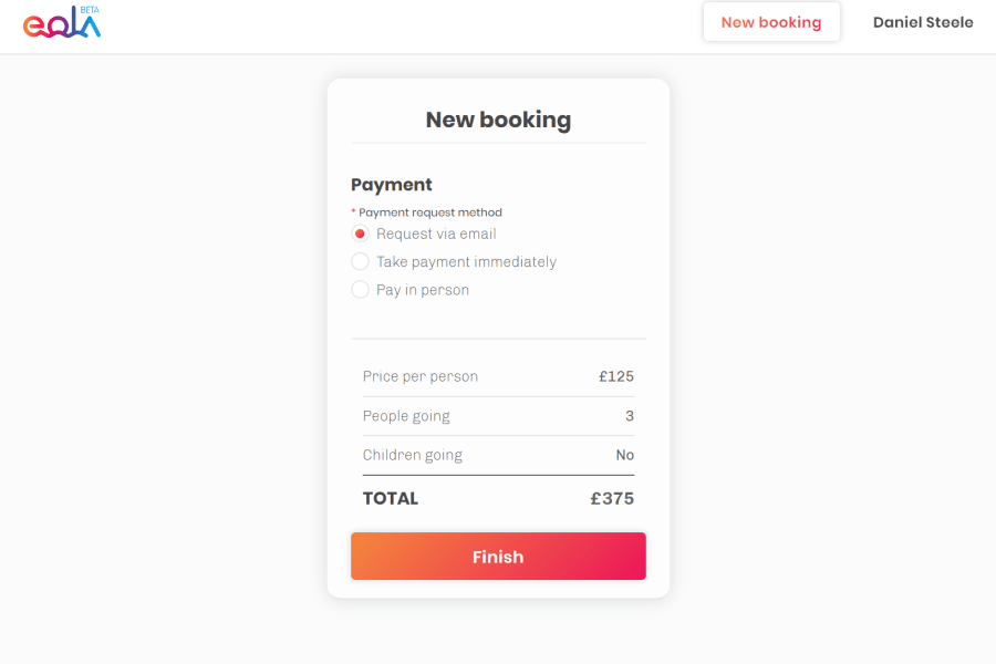 Offline booking functionality