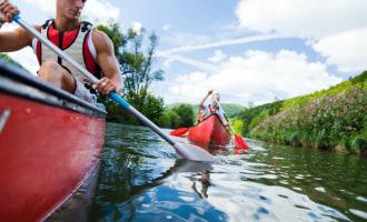Go kayaking or canoeing in England