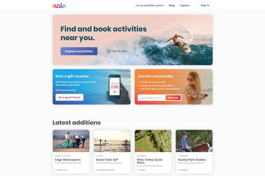 eola homepage now