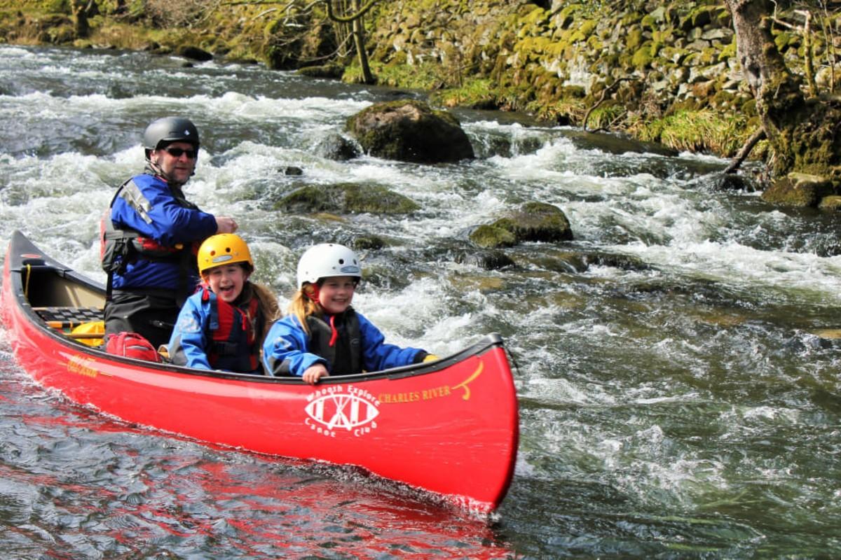 canoeing with whoosh axplore