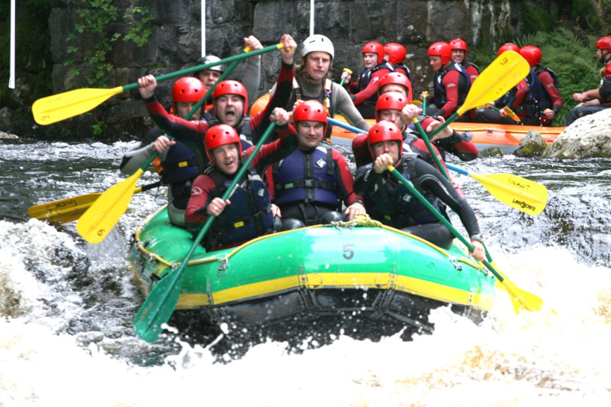 Book now white water rafting at Adventure Wales