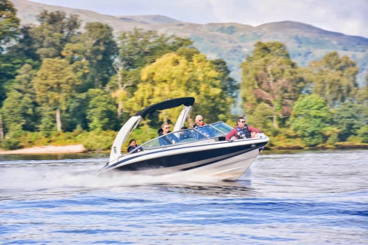 Book a speedboat tour at Portnellan Farm