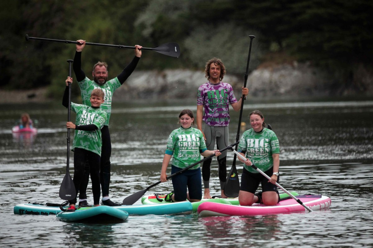 Book SUP now with Big Green Surf School