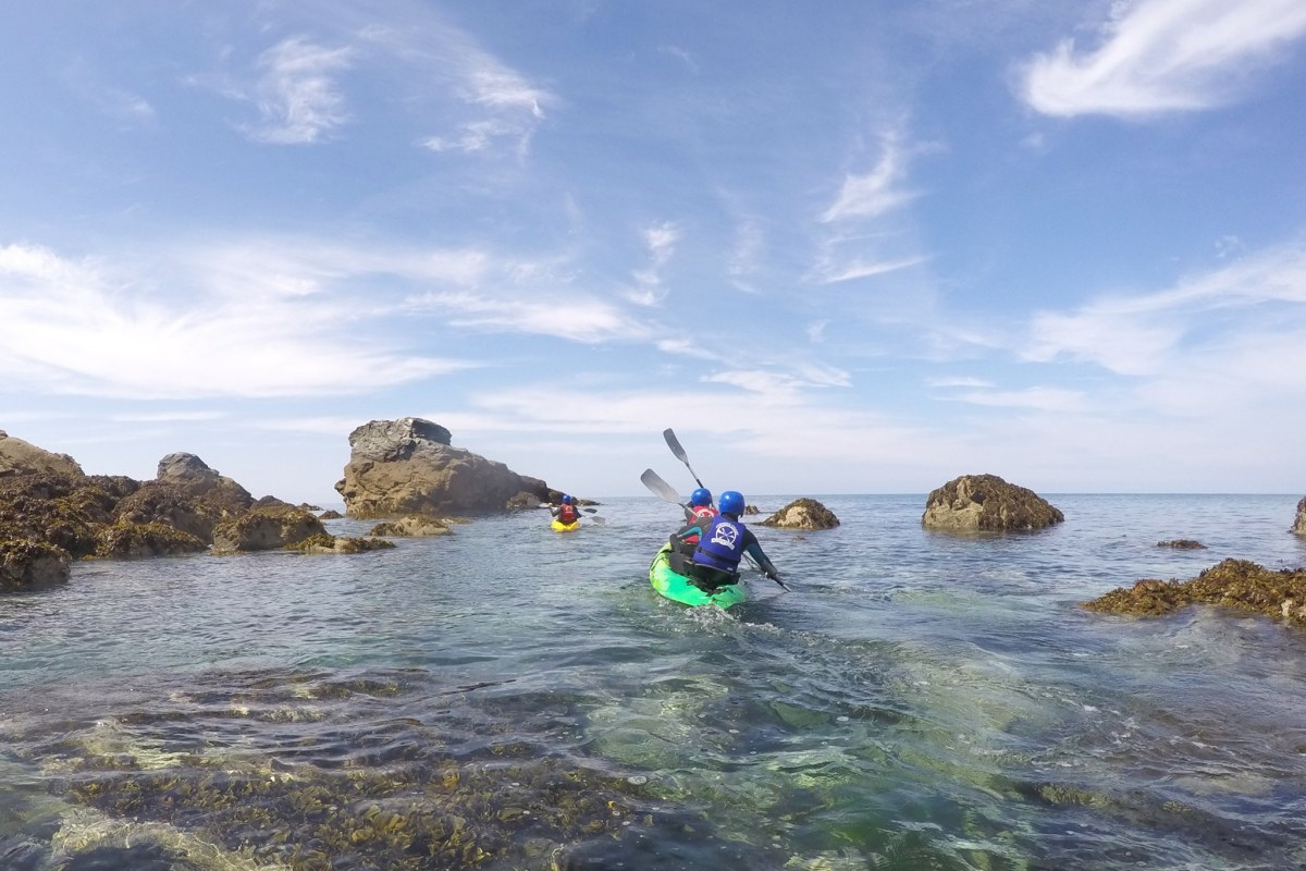 Book now kayaking with Cornish Coast Adventures