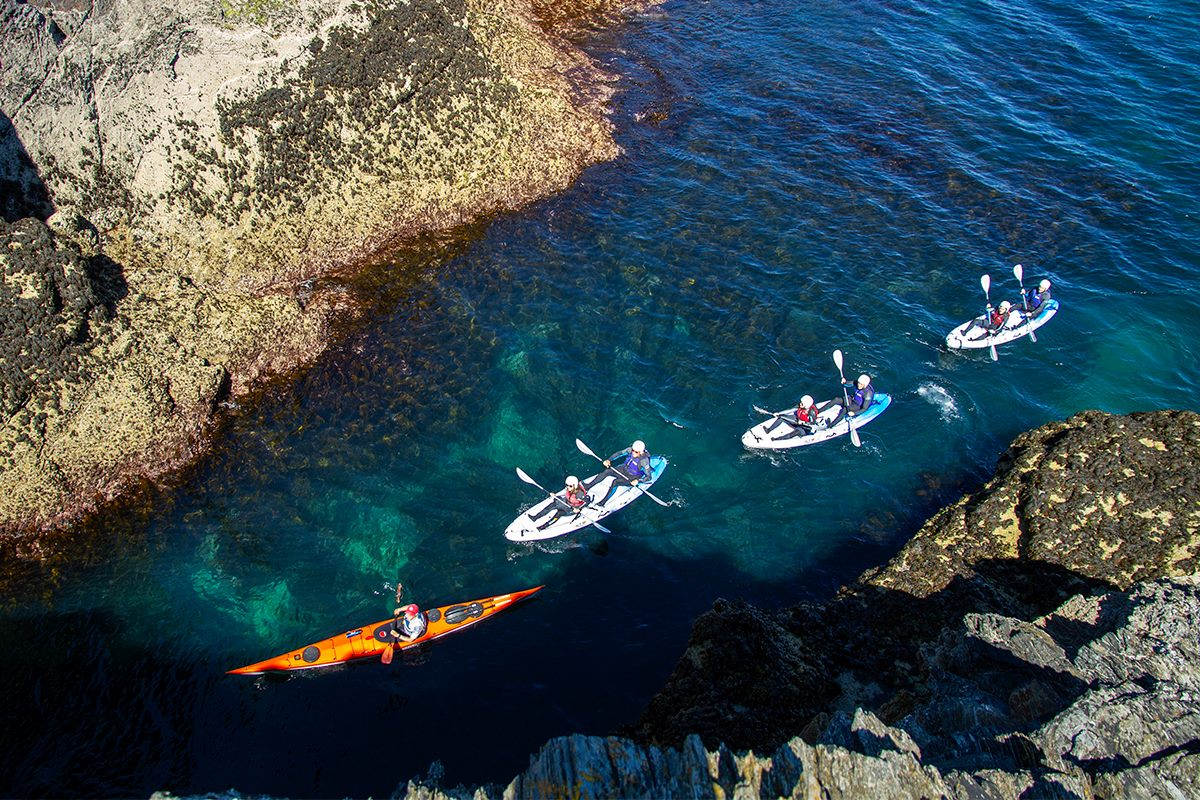 Book now kayaking with Cornish Rock Tors