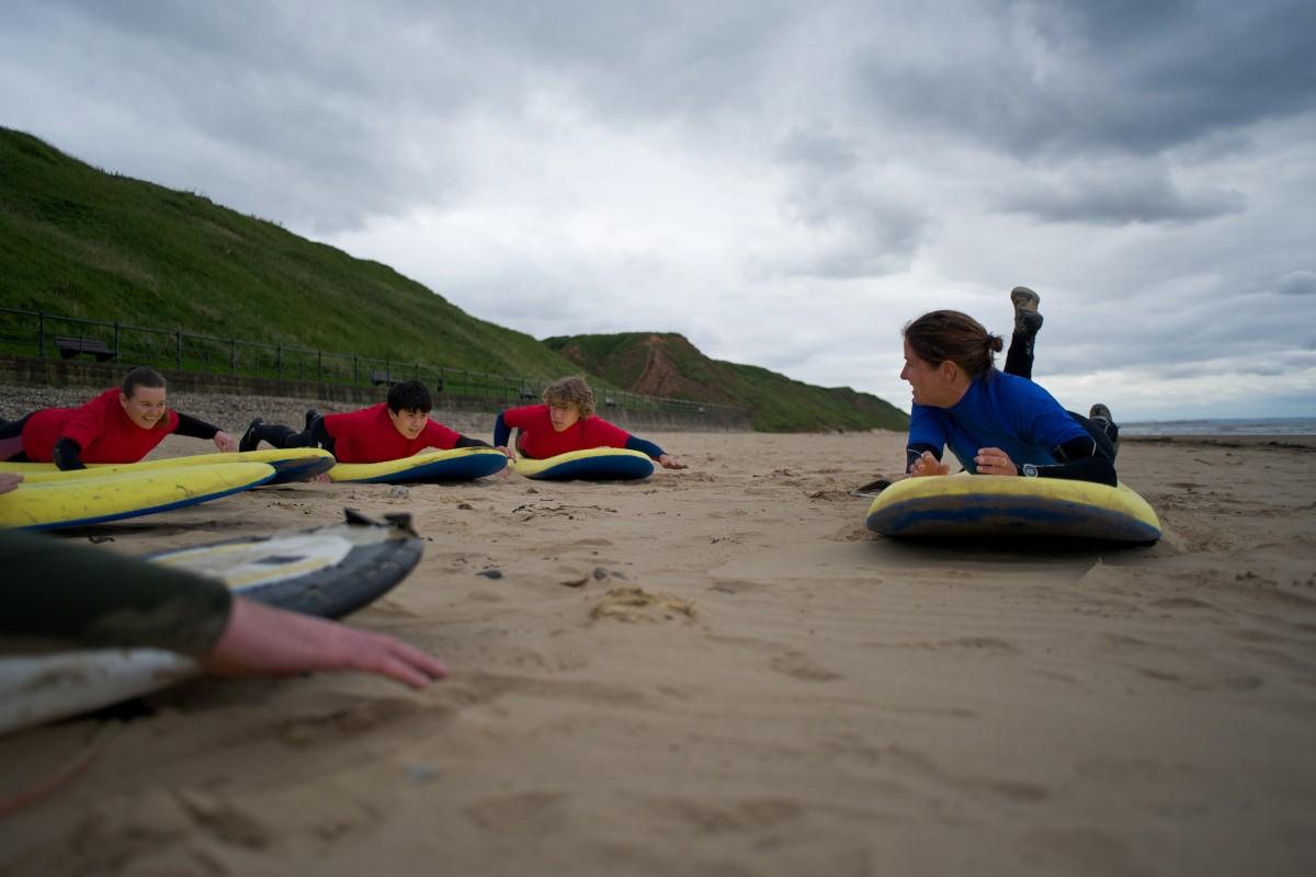 Saltburn Surf School Lesson