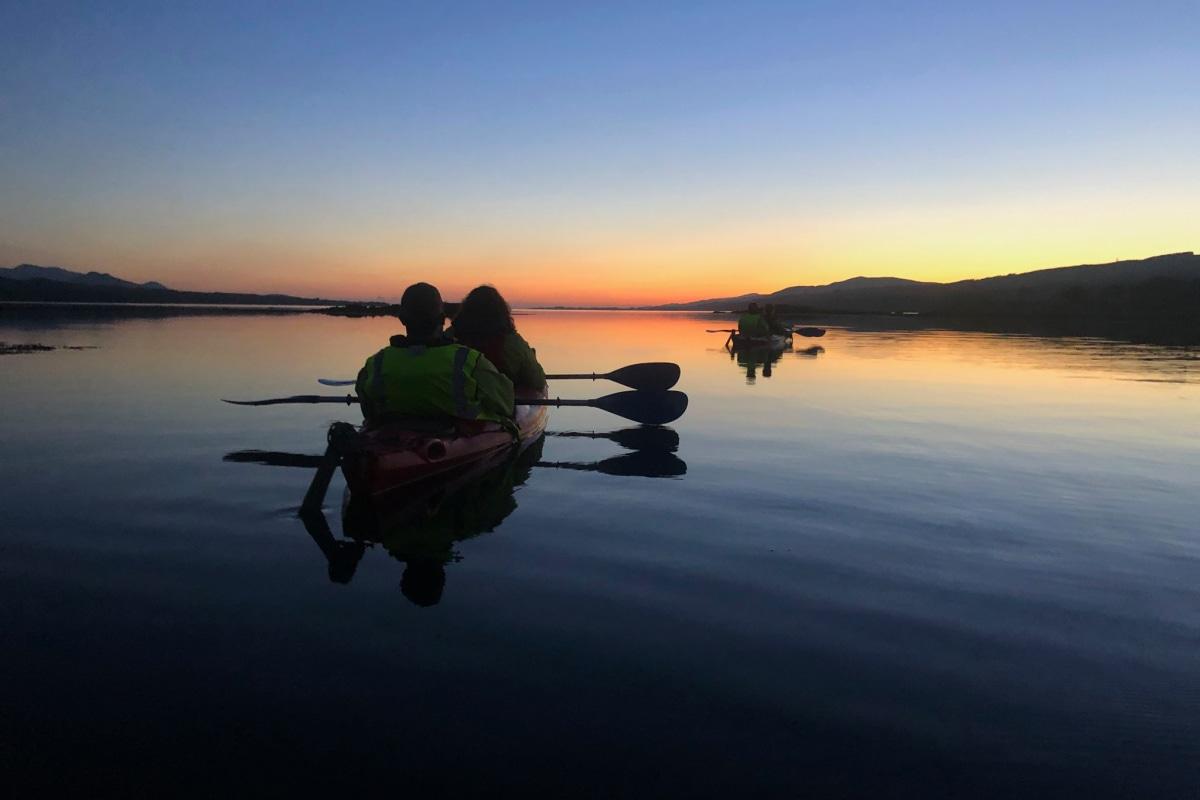 book a romantic night kayaking adventure