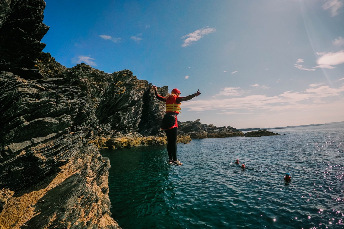 Book now a coasteering session