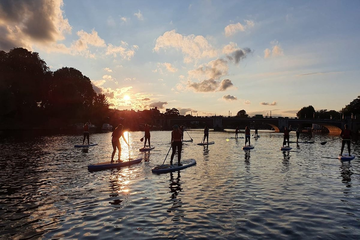 book stand-up paddleboarding