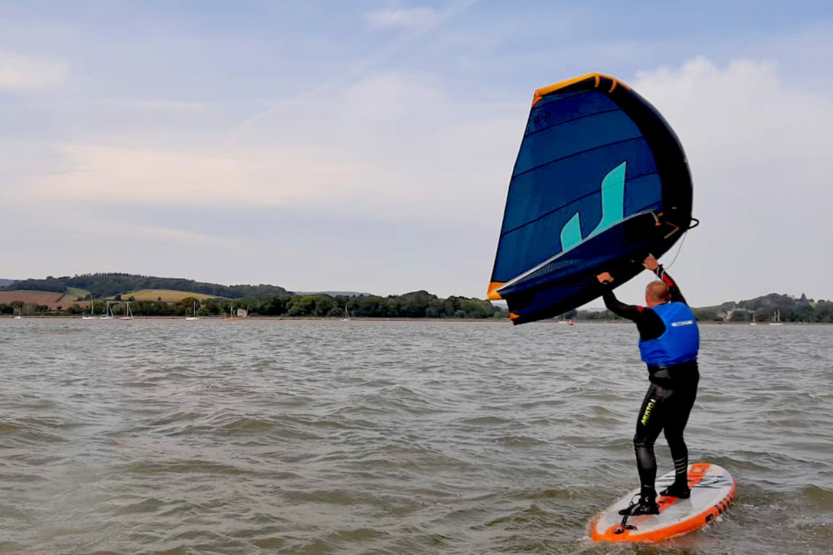 Wing surfing