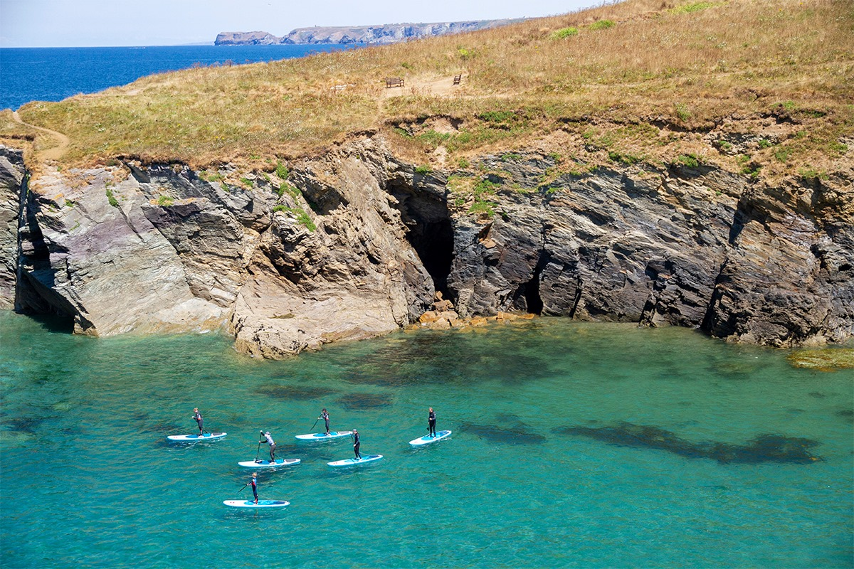 Book paddleboarding with Cornish Rock Tors