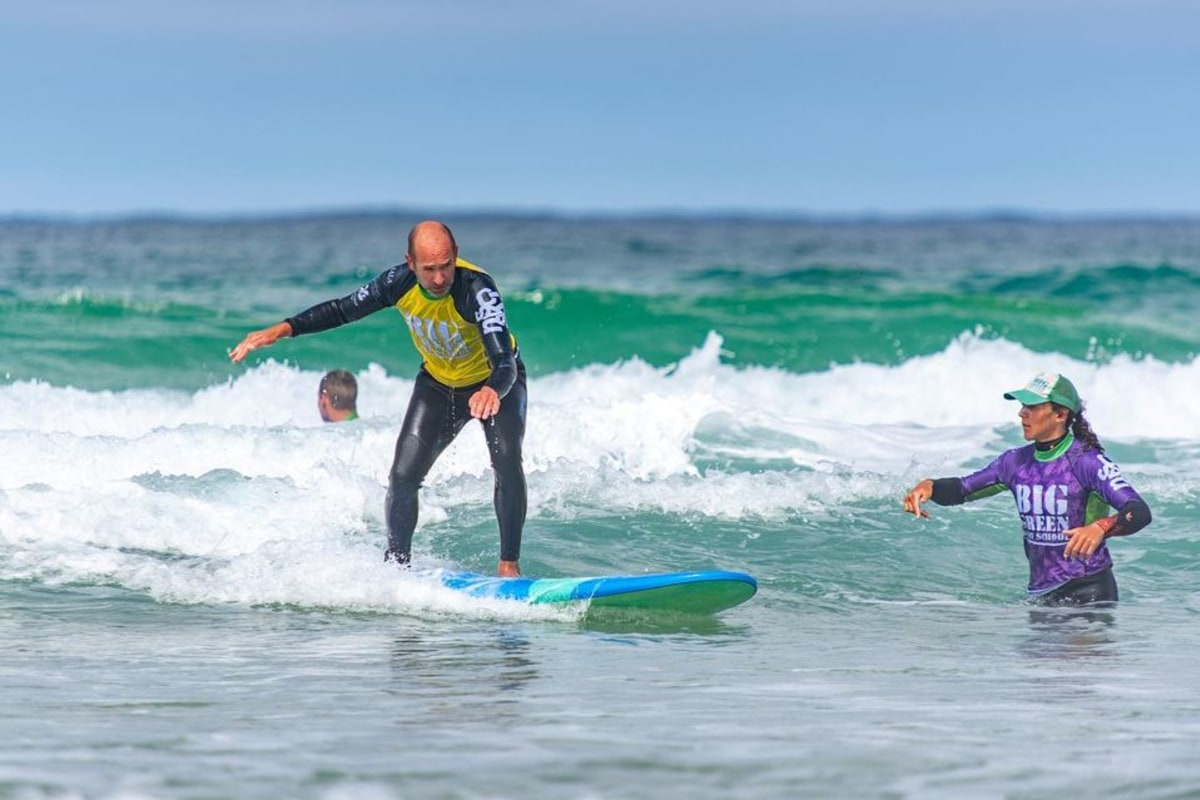 Book surfing with Big Green Surf School