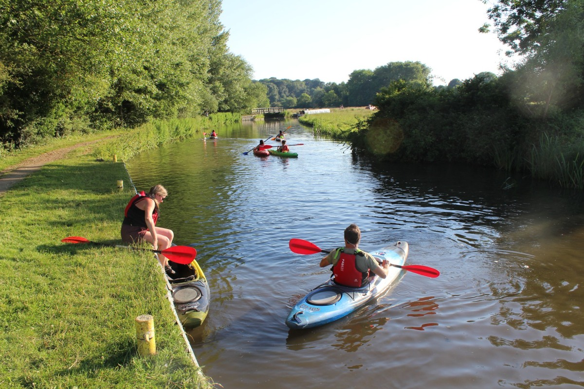 River Stort kayaking with Whoosh Explore